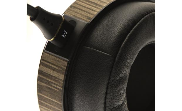 Audeze EL-8 Open-back Cables connect to both earcups via newly designed plug-ins