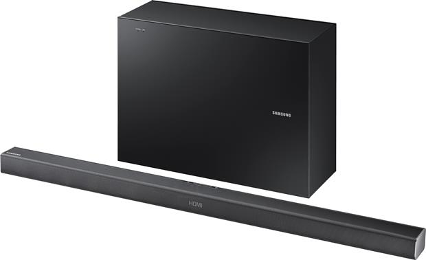 Powered home theater sound bar with wireless subwoofer and Bluetooth®. Samsung. Samsung HW-J550 Front