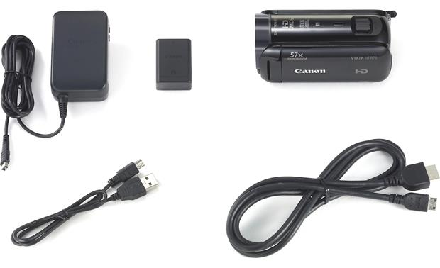 Canon VIXIA HF R70 Shown with included accessories