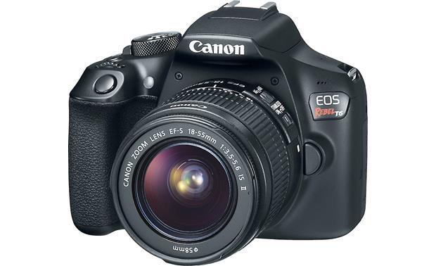Canon EOS Rebel T6 Kit Front, angled view