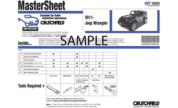 Crutchfield Car Audio Installation Instructions Front