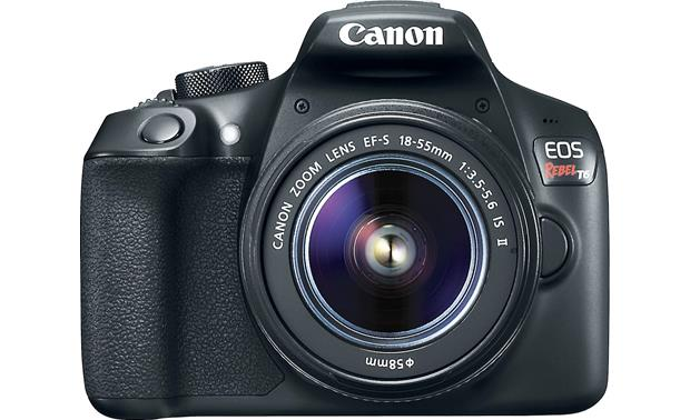 Canon EOS Rebel T6 Two Zoom Lens Kit Front,straight-on