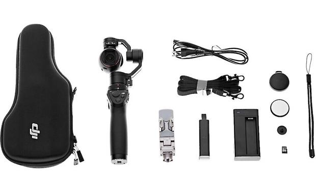 DJI Osmo Shown with included accessories