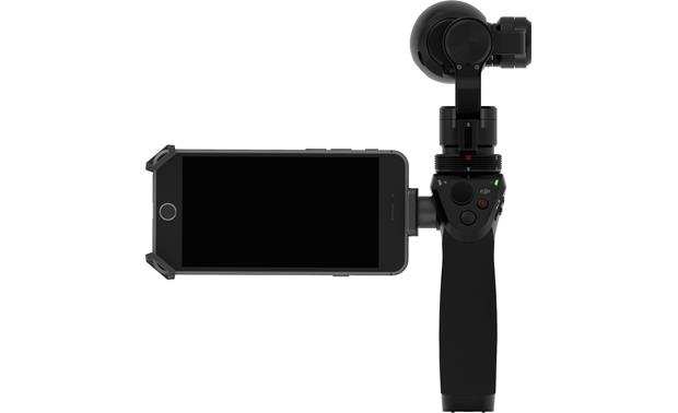 DJI Osmo Monitor your shot by connecting a smartphone (not included)