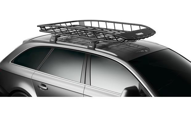 Thule 8591XT Canyon Roof Basket Extension Shown with 859XT Canyon cargo basket