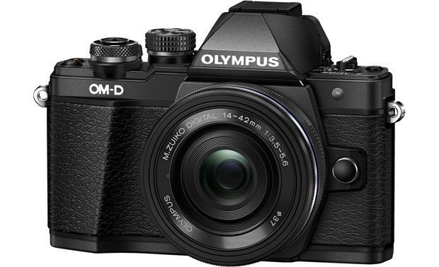 Olympus OM-D E-M10 Mark II Two Lens Kit Angled view