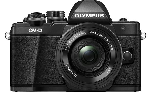 Olympus OM-D E-M10 Mark II Two Lens Kit Front with 14-42mm lens attached