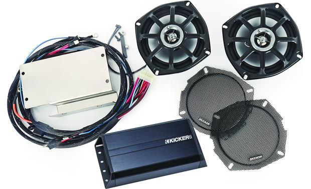 Kicker Klock Werks® FVICXC10 FIT KIT These Kicker speakers are replacements for your Victory's rear factory speakers (amp included)