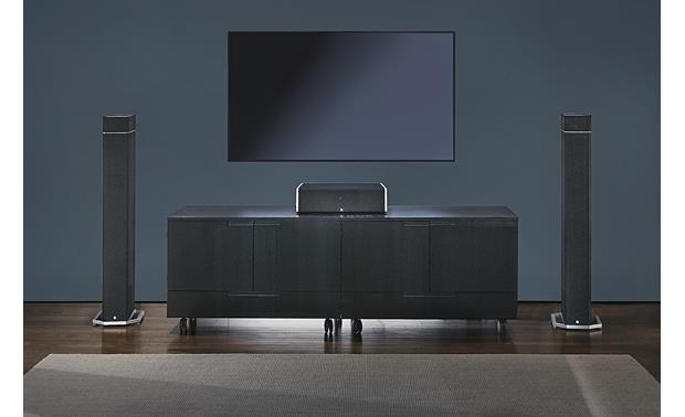 Definitive Technology BP-9020 Pair, shown with optional A90 Dolby Atmos speakers and center channel