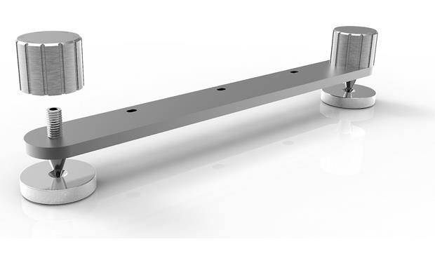ELAC Uni-Fi UF5 Included stabilizer bars with adjustable spiked feet and protective floor discs
