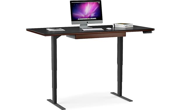 BDI Sequel 6059 Chocolate Stained Walnut - with compatible Sequel 6502 lift desk (available seperately; computer and accessories not included)