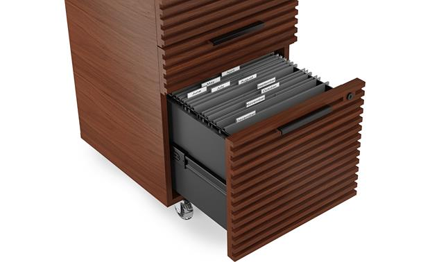 BDI Corridor 6507 Walnut - File drawer detail (files not included)
