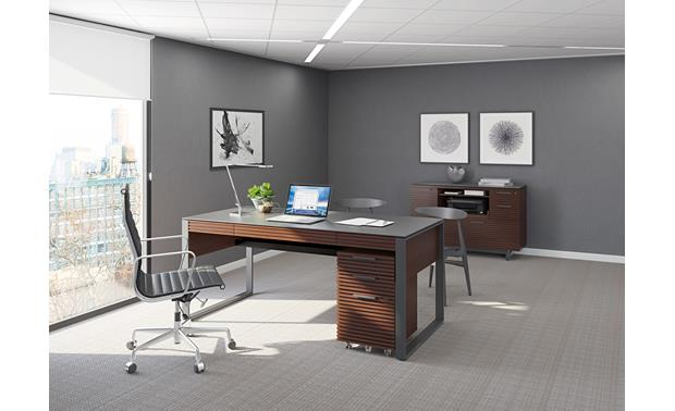 BDI Corridor 6521 Chocolate Stained Walnut - part of the BDI Corridor office suite (mobile file pedestal and cadenza available separately)
