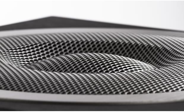 ELAC Debut S10EQ Close-up detail of integral metal mesh grille