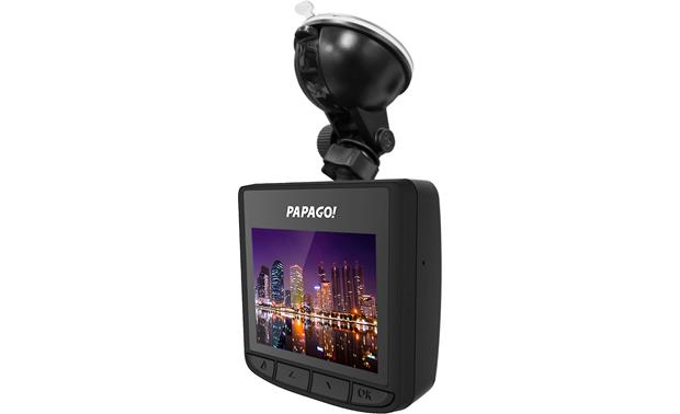 PAPAGO GoSafe S30 PAPAGO includes a suction mount as well as an adhesive-backed mount