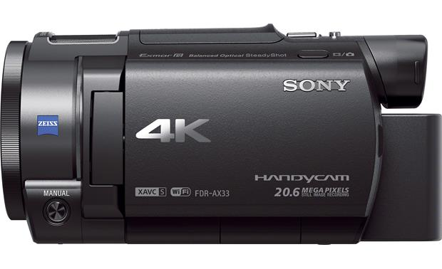 Sony Handycam® FDR-AX33 Left side