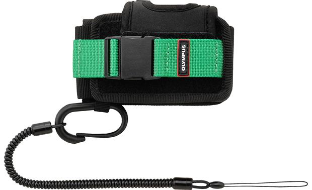 Olympus TG Tracker Case Green and black color scheme matches the camera