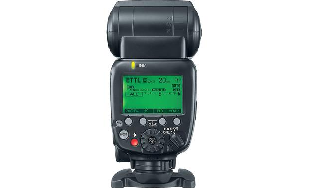 Canon Speedlite 600EX II-RT Back, with illuminated LCD screen