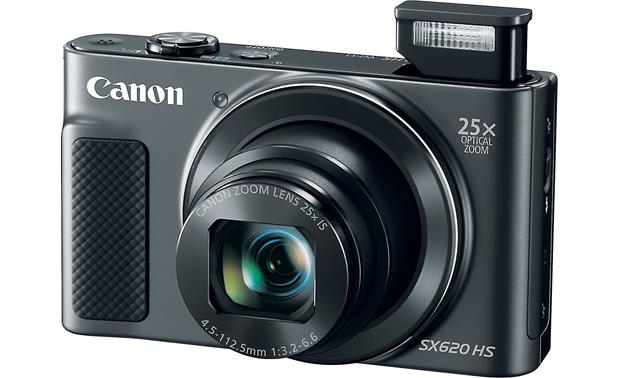 Canon PowerShot SX620 HS Shown with built-in flash deployed