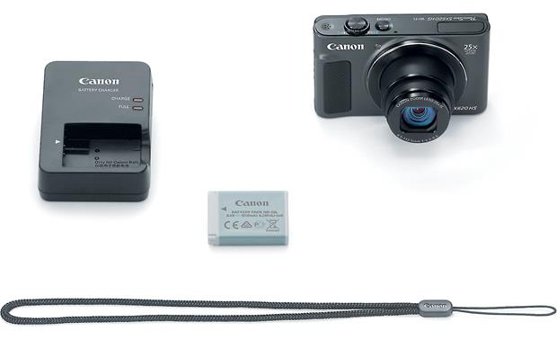 Canon PowerShot SX620 HS Shown with included accessories
