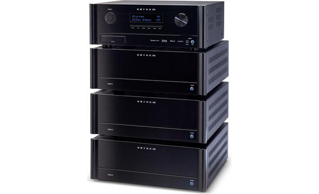 Anthem MCA 525 The MCA 525 (bottom) matches the other MCA-series amps and the AVM 60 A/V processor