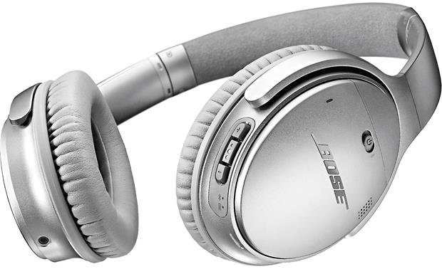 Bose® QuietComfort® 35 (Series I) Acoustic Noise Cancelling® wireless headphones Buttons on the right earcup let you control music, volume, and phone calls