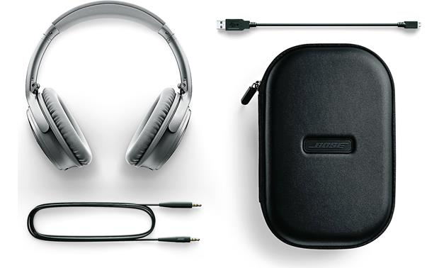Bose® QuietComfort® 35 (Series I) Acoustic Noise Cancelling® wireless headphones Included case and accessories