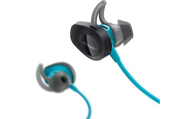Bose® SoundSport® wireless headphones Power button on right earbud