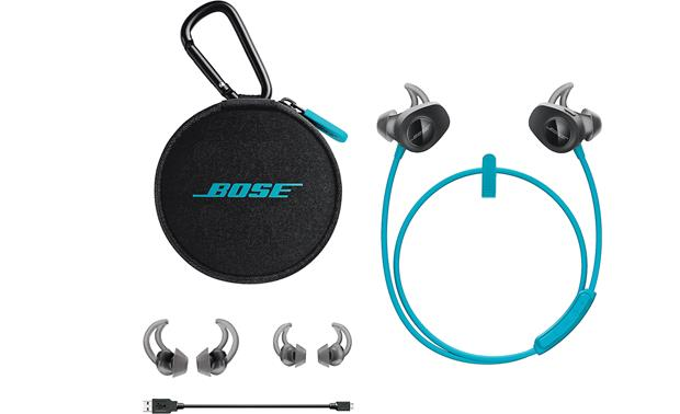 Bose® SoundSport® wireless headphones Includes matching case and three sizes of earbuds