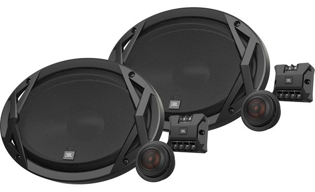 JBL Club 9600C These 3-ohm speakers are sensitive enough that you can power them with a factory radio, an aftermarket radio, or an amp