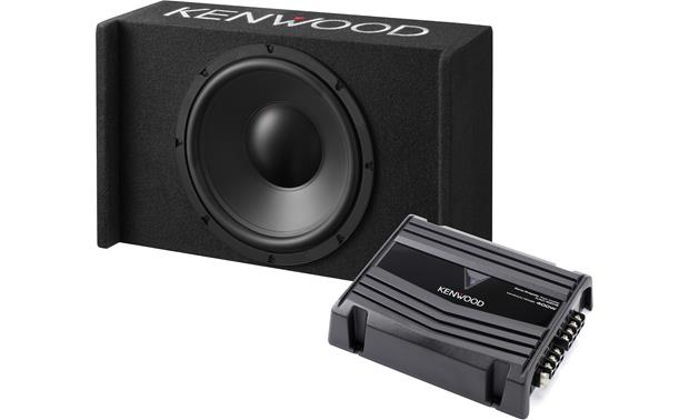 Kenwood P W120b 150 Watt Bass Package 12 Sealed Enclosure And Kac