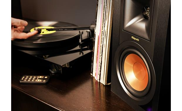 klipsch turntable. klipsch r-15pm and pro-ject turntable package a simple system that performs n