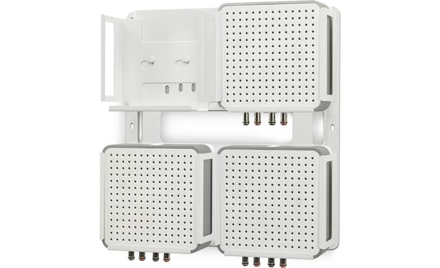 Flexson Connect:Amp Wall Bracket Shown with three CONNECT:AMP modules installed