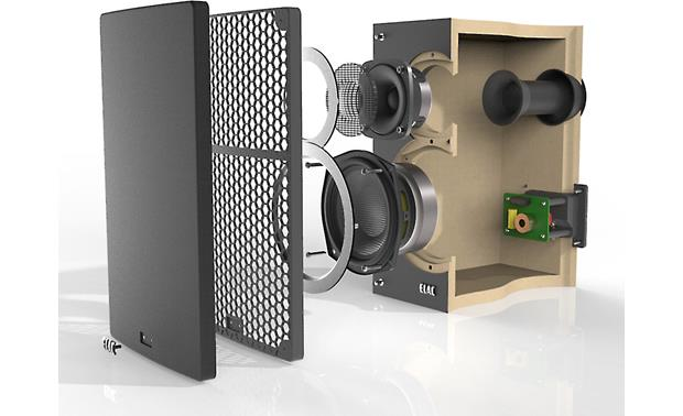ELAC Debut B5 Cutaway view of cabinet