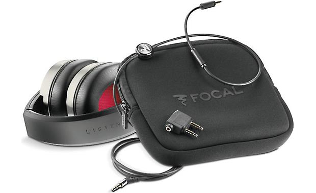 Focal Listen Included soft carrying case and accessories