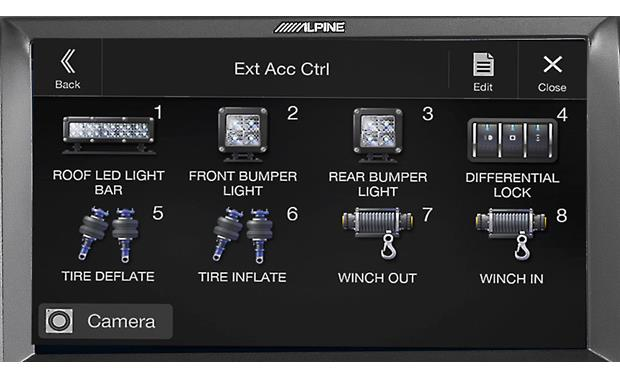 Alpine KAC-001 Truck Accessory Controller Sample screen shot