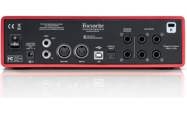 Focusrite Scarlett 18i8 (Second Generation) Back