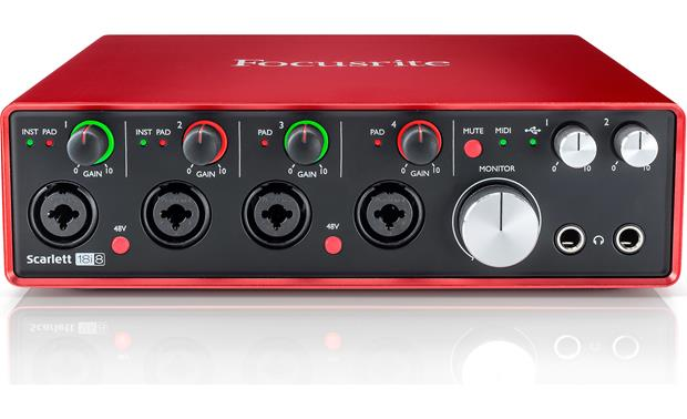Focusrite Scarlett 18i8 (Second Generation) Angled front view