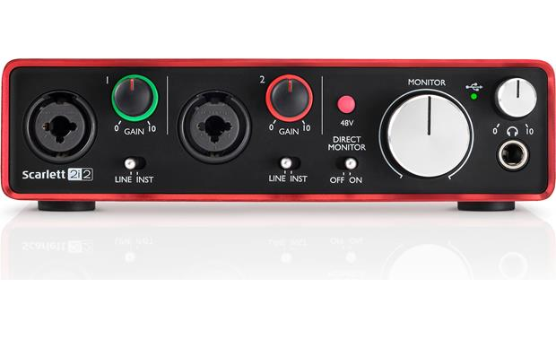 Focusrite Scarlett 2i2 (Second Generation) Direct front view