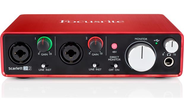 Focusrite Scarlett 2i2 (Second Generation) Angled front view