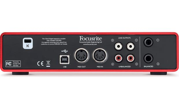 Focusrite Scarlett 2i4 (Second Generation) Back