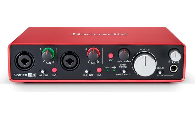 Focusrite Scarlett 2i4 (Second Generation) Angled front view