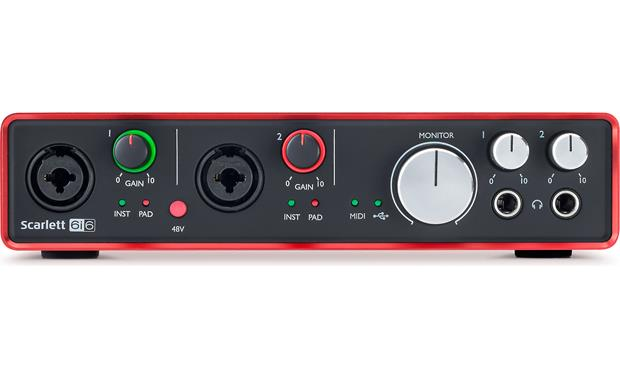 Focusrite Scarlett 6i6 (Second Generation) Direct front view