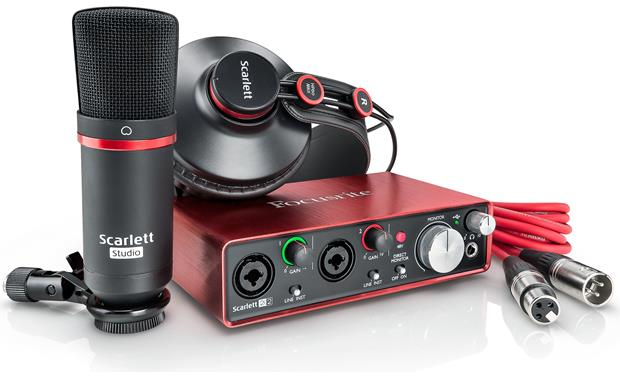 Focusrite Scarlett 2i2 Studio (Second Generation) Everything you need to record music on your computer