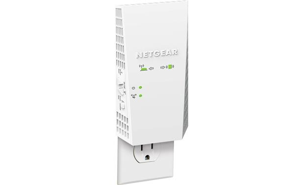 NETGEAR AC1900 Wi-Fi® Range Extender Essentials Edition Shown plugged into outlet