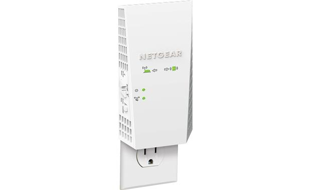 NETGEAR AC2200 Nighthawk X4 Wi-Fi® Range Extender Shown plugged into an outlet