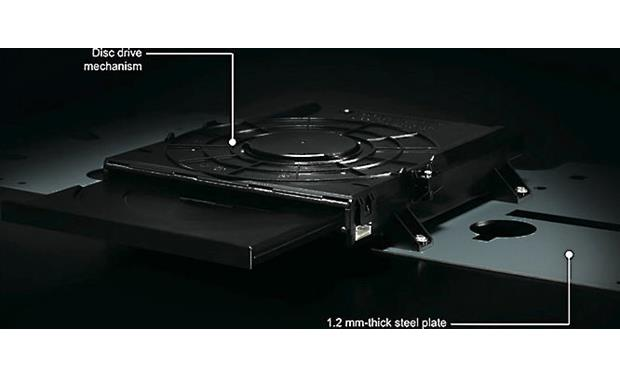 Yamaha AVENTAGE BD-A1060 Sturdy steel and aluminum construction reduces resonance and keeps disc spinning smoothly