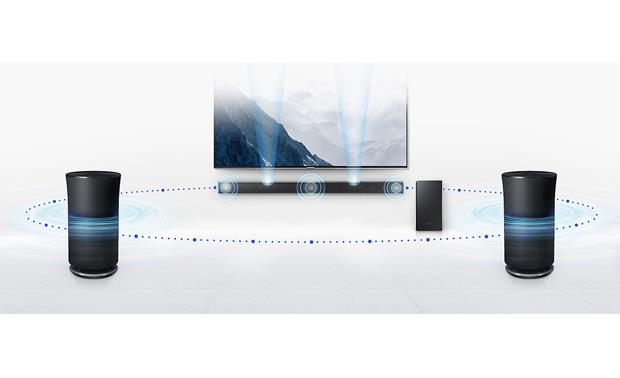 Samsung HW-K850 Built-in Wi-Fi lets you use Samsung Radiant360 speakers (sold separately) as wireless surround speakers
