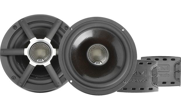 Polk Audio MM651 The sound quality of these 2-way speakers is improved by included external crossovers