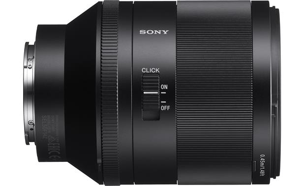 Sony SEL50F14Z Planar T* FE 50mm f/1.4 ZA Aperture click switch enables or disables aperture ring click stops